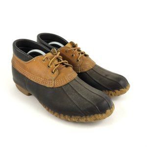 LL Bean Maine Hunting Shoe Mens Low Boots Brown